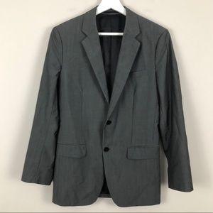 Theory Slim Fit Wool Pinstripe 2 Button Blazer